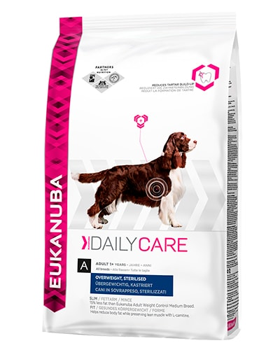 Avbildet: Eukanuba Daily Care Overweight Sterilised