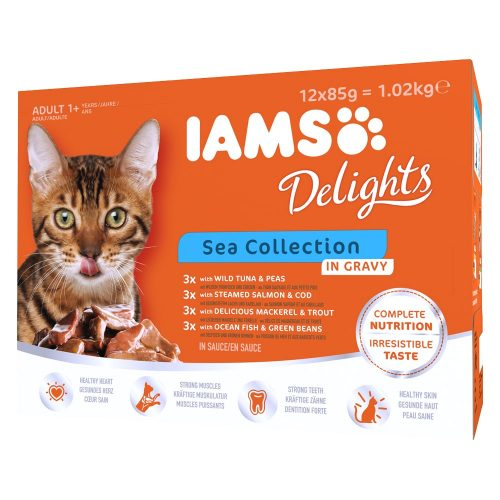 IAMS katt Delights Sea Collection Gravy - 12x85g