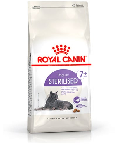Avbildet: Royal Canin Regular Sterilised 7+ kattemat