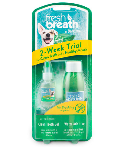 Avbildet: Tropiclean fresh breath 2week dential trial kit