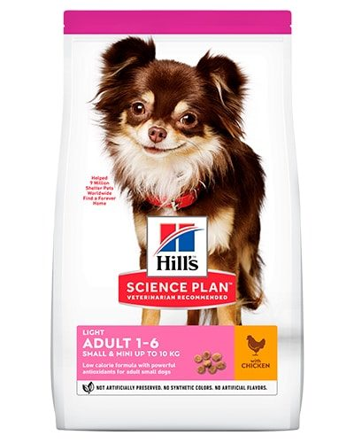 avbildet: Hill's SP Canine Adult Light Small Mini Chicken