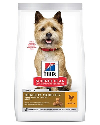 Avbildet: Hill's SP Canine Adult Healthy Mobility Small Mini Chicken