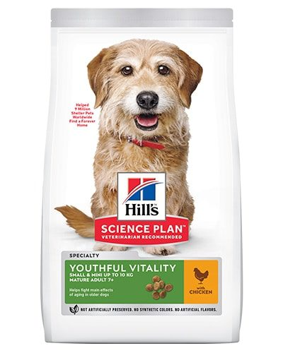 Avbildet: Hill's SP Canine Adult7+ Youthful Vitality Small Mini Chicken
