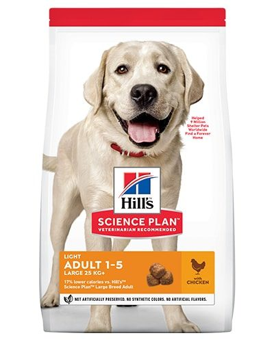 Avbildet: Hill's SP Canine Adult Light Large Breed Chicken