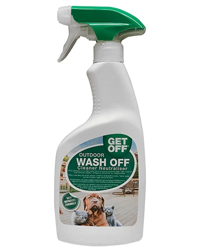 Avbildet: GetOff Spray Outdoor Wash Off - fjerner revirmarkering til hund og katt