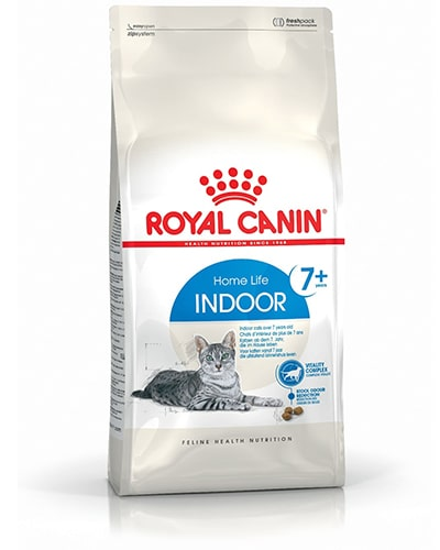 Avbildet: Royal Canin Indoor 7+ kattemat