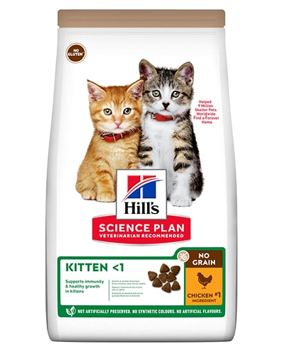 Hill's Science Plan No Grain Kitten kattungefôr med kylling