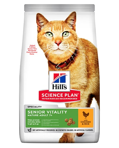 Hill's Science Plan Senior Vitality Adult 7+ kattefôr med kylling & ris