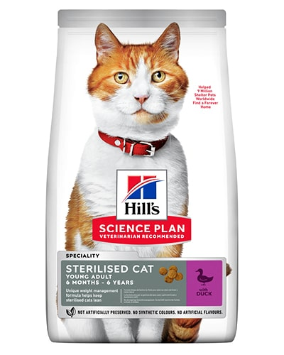 Hill's Science Plan Sterilised Cat Young Adult kattefôr med and